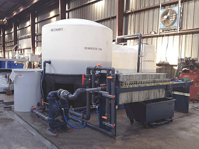 Stone Fabrication Waste Water Treatment